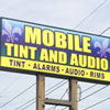 Retail Sign- Mobile Tint & Audio