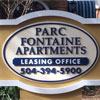 Retail Sign- Parc Fountaine Arpartments